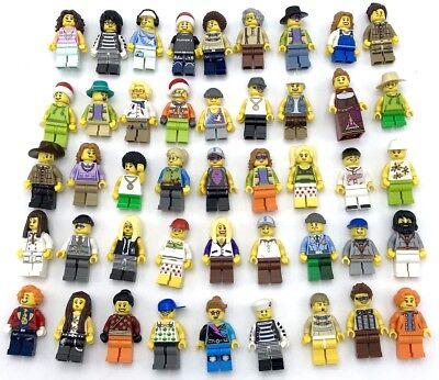 LEGO 10 NEW LEGO MINIFIGURES TOWN CITY SERIES BOY GIRL TOWN PEOPLE GRAB BAG SET