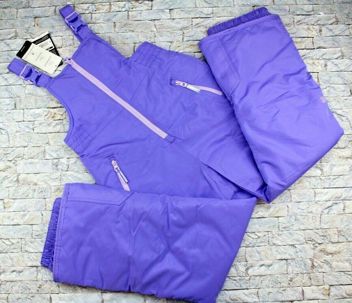 Girls Snow Suit Bib Pants  M 7/8 Champion C9 Purple Overalls