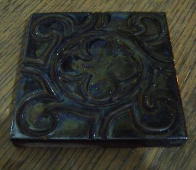 Reclaimed Victorian Antique Craven Dunnill & Co.  Floor Tile 10.5cm x 10.5cm **