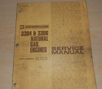 Cat Caterpillar 3304 3306 Natural Gas Engine Service Manual Ng Repair Overhaul