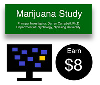 RESEARCH STUDY: THC Users needed, Recieve $8
