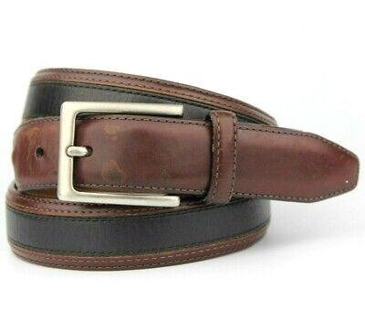 "Johnston & Murphy Brown Vintage Retro Leather Belt Size 40"""