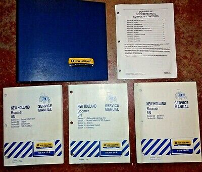 New Holland Boomer 8n Tractor Service Repair Shop Manual Complete Nh Original