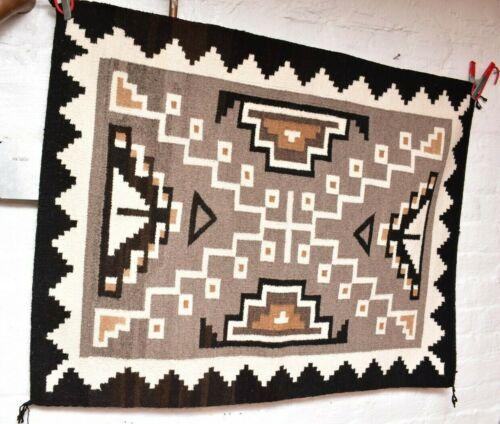 ANTIQUE Navajo Rug native american indian weaving Vintage 39x29 Textile