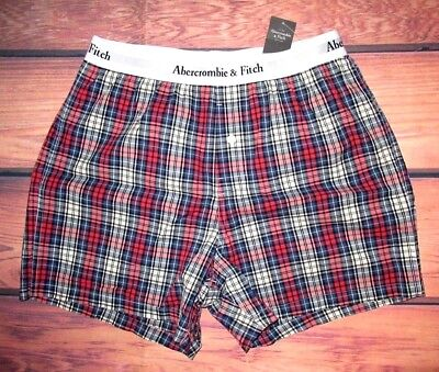 MENS ABERCROMBIE & FITCH PLAID BOXER SHORTS SIZE M