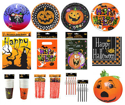 New Halloween Party Tableware and Decoration Items Cups Napkin Tablecover Plates - Halloween Plates And Cups