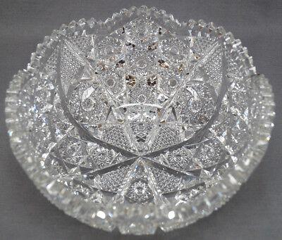 ABP American Brilliant Period Strawberry Diamonds & Hobstars Cut Crystal Bowl segunda mano  Embacar hacia Argentina