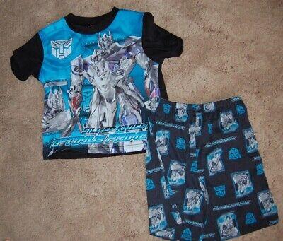 Transformers Boys Optimus Prime Short Sleeve Pajama Set Size Medium Summer