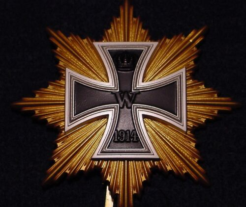 GERMAN WWI MEDAL - STAR OF THE GRAND CROSS OF THE IRON CROSS - HINDENBURG STAR