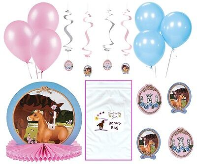 Horse theme Party Decoration Bundle Centerpiece Swirls Balloon Baby Shower Decor](Horse Theme Party Supplies)
