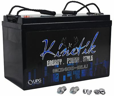 Kinetik HC2400-BLU 2400 Watt Car Battery/Power Cell Audio System 12 Volt HC2400
