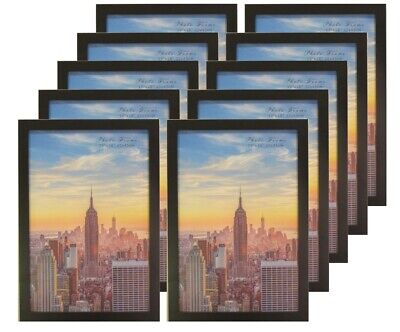 Frame Amo 12x18 Black Wood Picture or Poster Frame, 1 inch Wide, 1, 3 or 10 PACK 18 Black Wood Picture Frame