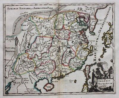 Original antique map CHINA, 'IMPERII SINARUM NOVA DESCRIPTIO', P. Cluver, c.1697