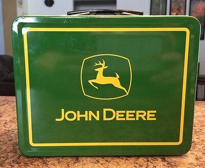 John Deere Green Turtle Trouble Lunch Box Tin Logo On One Side