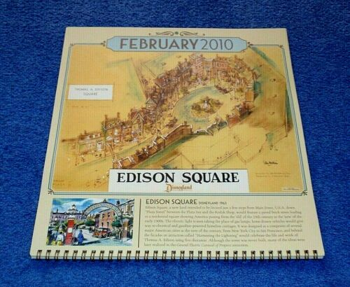 DISNEY UNDISCOVERED CALENDAR WITH DISNEYLAND UNREALIZED IMAGINEERING PROJECTS