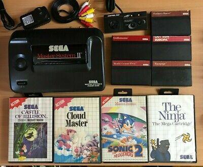 Sega Master System II AV-MODDED 50/60Hz switch + 10 games ** COMPLETE **
