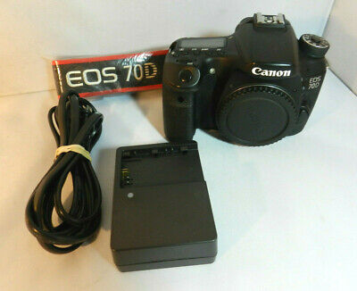 Canon EOS 70D Body Only DSLR Camera 20.2MP Shutter Count 21,193 #MAP4186