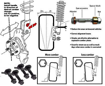 Scion Xd Front Camber Kit Brand 15mm 2 X Bolts