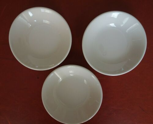 "3 Homer Laughlin Best China Berry Sauce White 4 3/4"" Bowls CCC-1 Restaurant Ware"