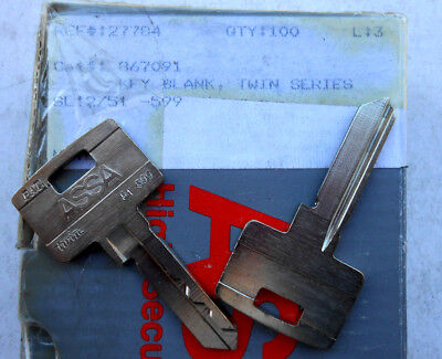 1 Assa Twin Series  Uncut Key Blank  Fits Assa Oem