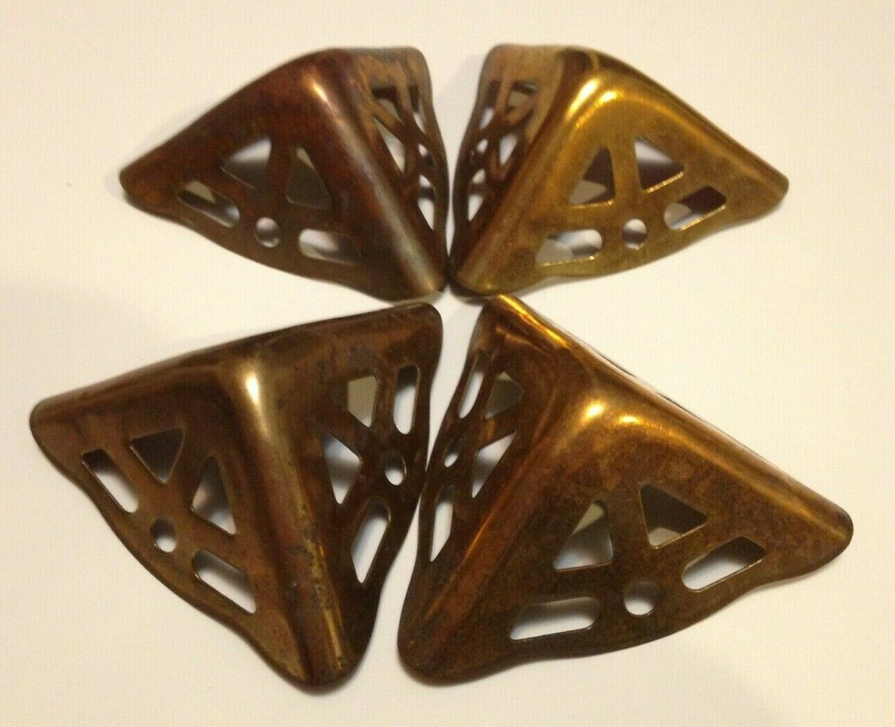 Vintage Corner Protection Pieces For Chest Case Dresser Furniture Art Craft 2x3  - $3.95