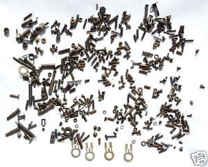 Fasteners-from-a-1926-Woodstock-Typewriter-parts-screws-nuts-steampunk-gear-key