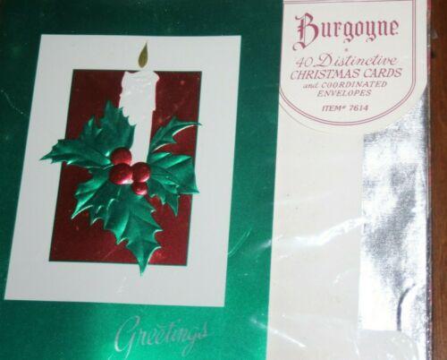 Burgoyne Holiday Cards Gold Foil Lined 42 Elegant Cards Foil Lined Envelope