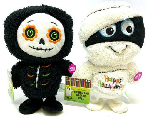 (2) Halloween Singing & Walking Pals Mummy Skeleton Spooky I Ain