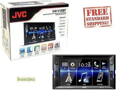 JVC KW-V130BT Double DIN Bluetooth In-Dash DVD/CD/AM/FM Car Stereo