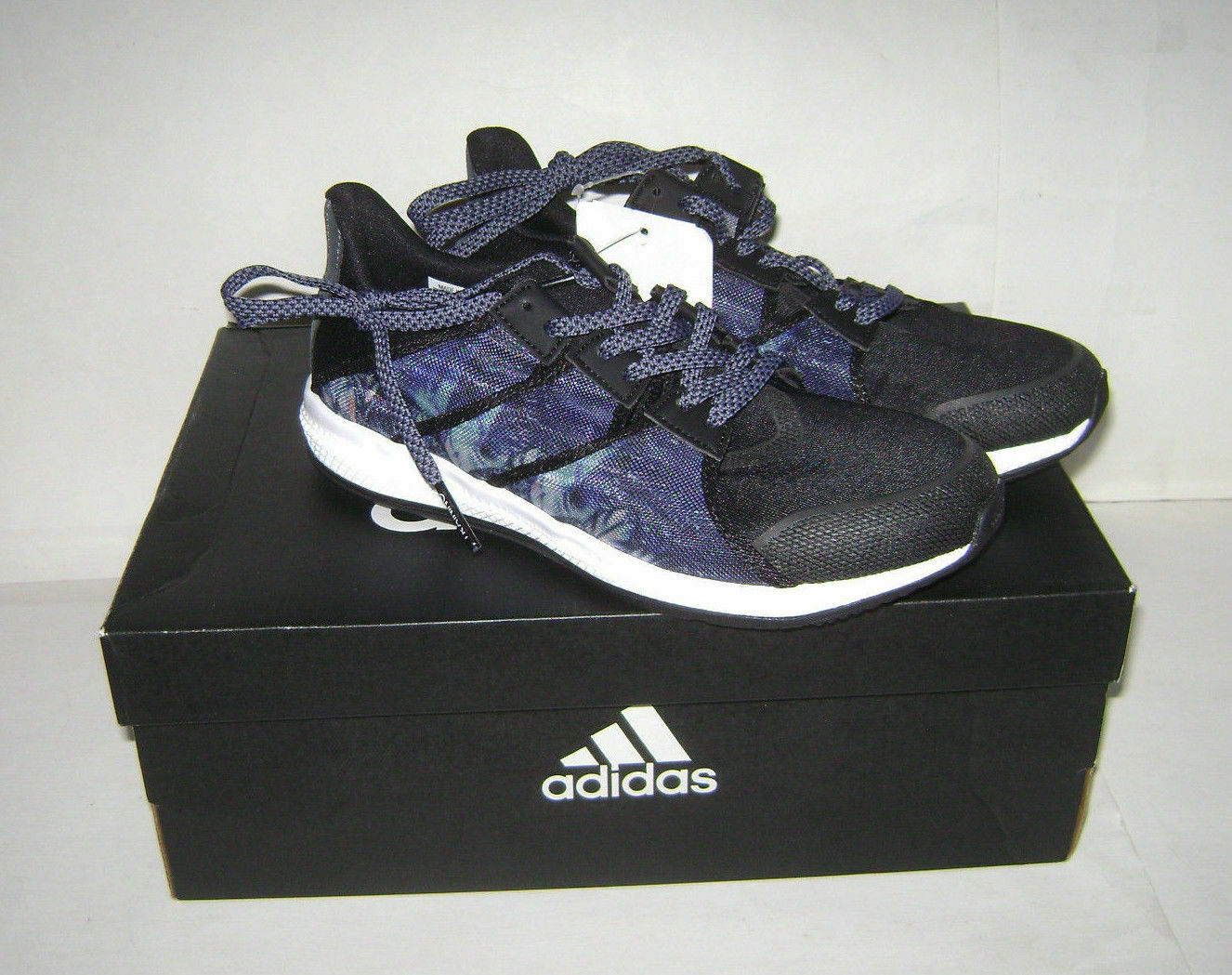 Adidas Womens Gymbreaker Trainer Black/blue Mesh Shoes New!