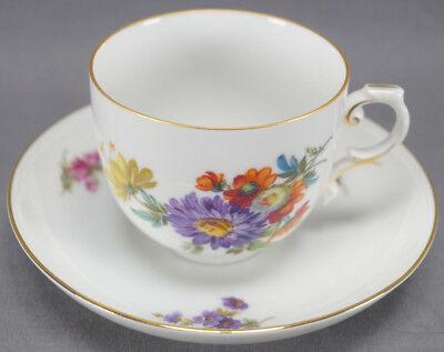 Furstenberg Ancestral Dresden Pattern Meissen Style Floral Coffee Cup & Saucer