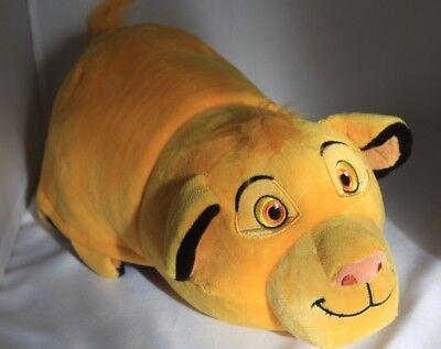 "Disney Lion King  Simba Pumba Reversible Plush Toy 14"" Stuffed Animal FlipaZoo"