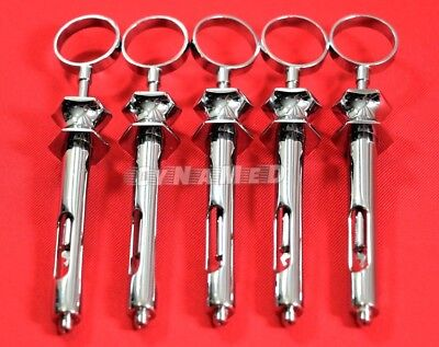 5 Ea Premium German Stainless Dental Aspirating Syringe Dental Instruments 1.8cc