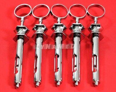 5 Ea Premium German Stainless Dental Aspirating Syringe Dental Instruments 1.8cc