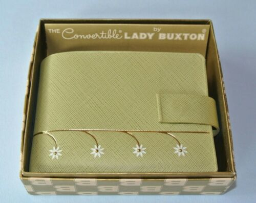 Vintage Lady Buxton Light Green Leather Woman