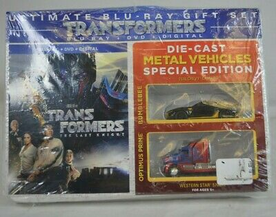 Transformers: The Last Knight Blu-ray+ DVD + Digital + 2 Die-Cast Metal Vehicles