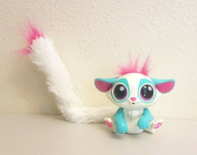 2017 Lil Gleemerz Amiglow White Blue Interactive Lemur Toy Mattel
