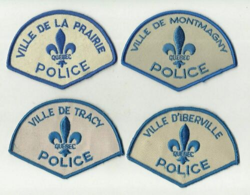 Tracy / Iberville / La Prairie / Montmagny (QUEBEC) Police Patches