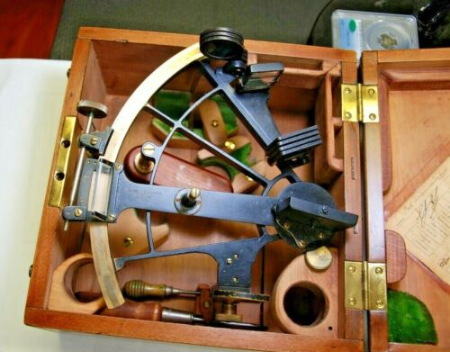 ANTIQUE SEXTANT KEUFFEL AND ESSER - 1944 - NEW YORK - 36479 - W/ CERTIFICATE