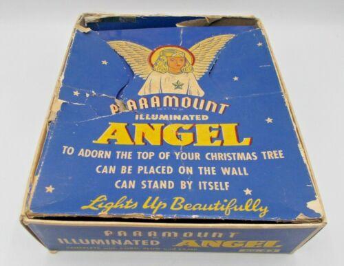 Paramount Illuminated Angel No 63 1940s Xmas Tree Topper Christmas