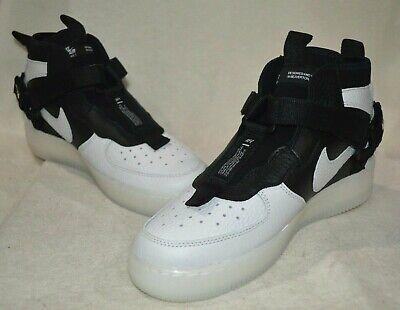 Nike Air Force 1 Utility Mid (GS) Off White/Black Boy's Sneakers-Sz 6/6.5/7Y NWB