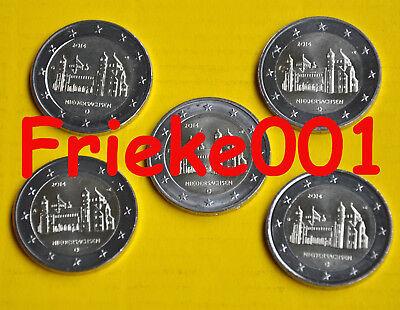 Duitsland - Allemagne - 5x 2 euro 2014 comm.(Niedersachsen)