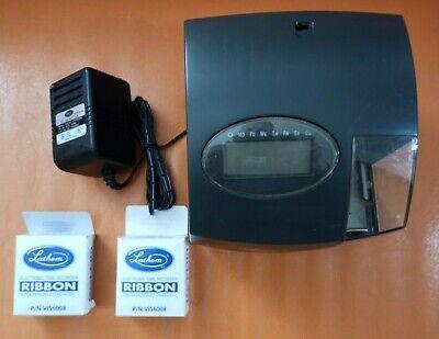Lathem 1000e Digital Time Punch Clock W Ac Adapter 2 Ink Cart Tested No Key