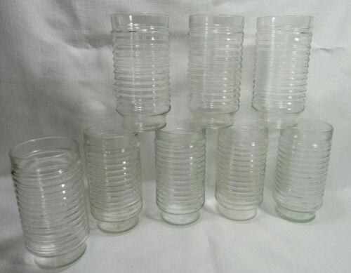 Anchor Hocking Park Avenue Manhattan Eight (8) Clear Glass Tumblers GC