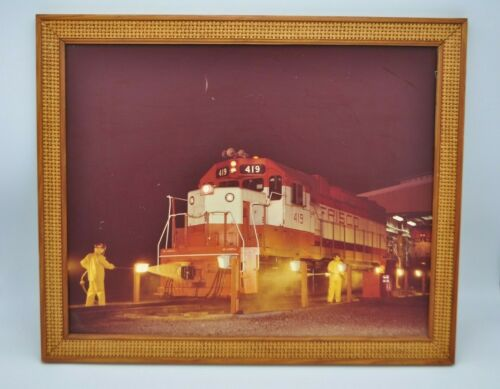 Vintage Frisco Train Enlarged Photograph Framed Photo Railway Railroad Wall Art