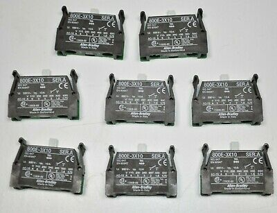 Lot Of 8 Allen Bradley 800e-x10 Normally Open Contact Blocks