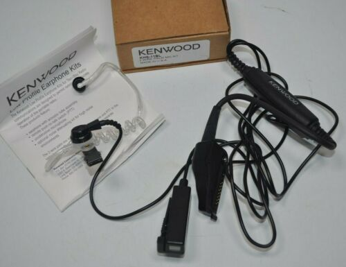 New Kenwood OEM KHS-11BL Remote Palm PTT Mic Kit with Ear Bud