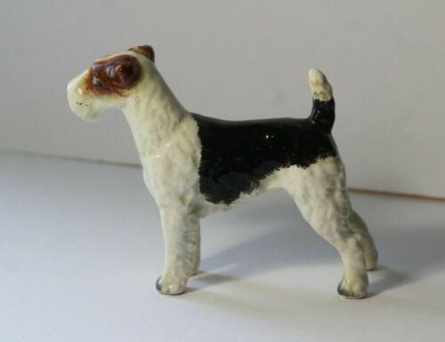 Vintage Wire Hair Fox Terrier Dog Porcelain Figurine