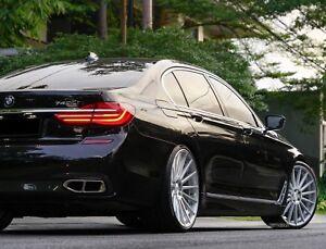 "22"" RF15 Concave Silver Wheels Fit BMW F01 7 Series 740 750 F12 F13 640 650 Set"