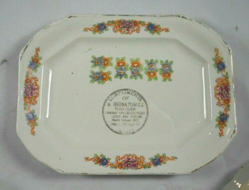 Vtg Calendar Plate B Bernatowicz Grocery Delicatessen Chicago ILL IL S Throop St